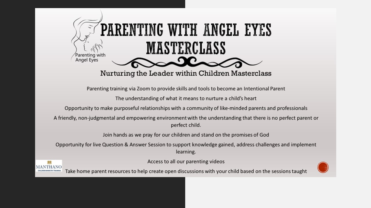 Parenting With Angel Eyes Master Class